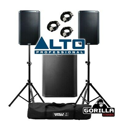 Alto TS315 Active 1000W RMS 15  DJ Disco PA Speaker (Pair) & TS318S Subwoofer • 1,049£