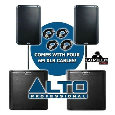 Alto TS315 Active 15  DJ Disco PA Speaker (Pair) & TS315S 15  Subwoofer (Pair) • 1,419£