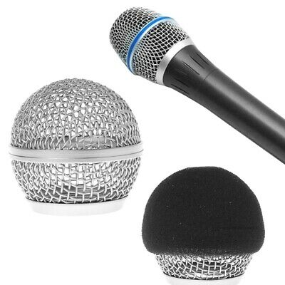 Replacement Ball Head Mesh Grille Microphone For Shure BETA58 BETA58A SM58 SM58S • 2.85£