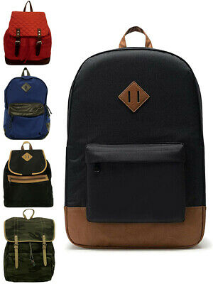 Womens Mens Backpack Rucksack Travel School College Work Bag Large Gift New • 3.30£