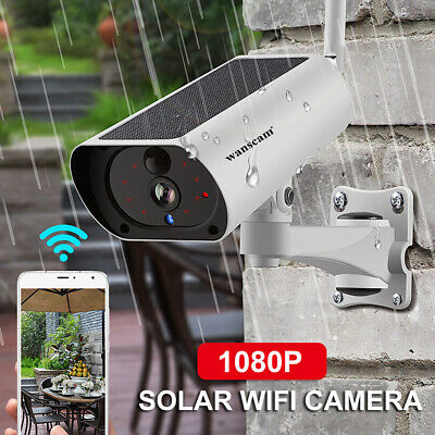 Wanscam 1080P 2.0MP Solar Powered WiFi IP Camera 4X Zoom 2-Way Audio IR-CUT P3H5 • 44.55£