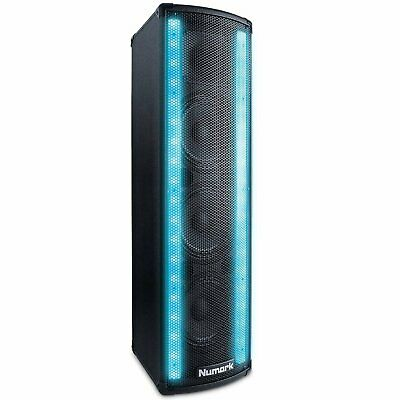 Numark Lightwave Cassa Amplificata Per DJ Da 200 W, Barre LED Colorate (X2H) • 265.84£