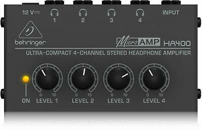 Behringer HA400 Microamp 4 Channel Stereo Headphone Amplifier • 23.68£