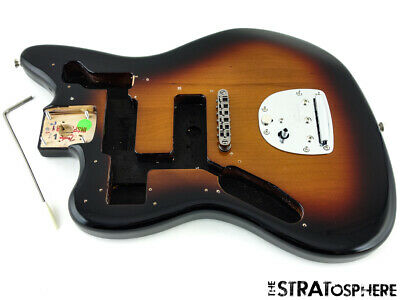 LEFTY Vintage RI Fender Kurt Cobain NOS Jaguar HH Guitar BODY& HARDWARE Sunburst • 326.28£
