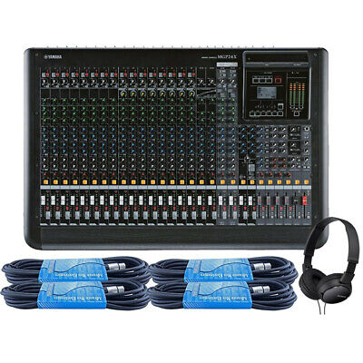 Yamaha MGP24X 24-Channel Premium Mixing Console W/ 4 X 15ft XLR & Headphones • 934.54£