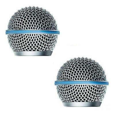 2x Microphone Grille Head Mesh Cover Windshield For Shure Beta58A SM58 Pgx24 • 6.59£