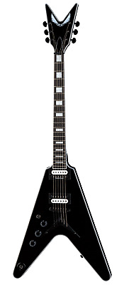 New Dean V Select Classic Black Lefty Electric Guitar - Free Shipping! • 650.52£