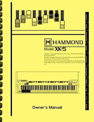 HAMMOND XK-5 XK5 Organ OWNER'S MANUAL • 15.76£