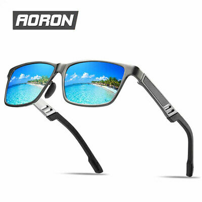 Mens Polarized Aluminium Frame Sunglasses Outdoor Driving Sport Eyewear Glasses • 7.99£
