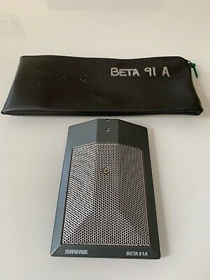 Shure Beta 91A Half Cardioid Boundary Condenser Microphone (Used) $170.00 • 134.27£