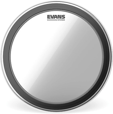 """Evans EMAD2 Clear Bass Drum Head, 22"""" – Externally Mounted Adjustable Dampin • 56.30£"""