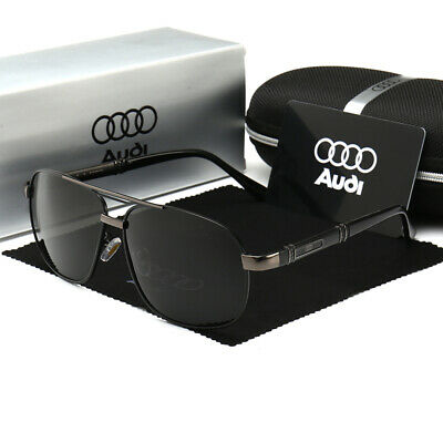 2020 New Audi Sunglasses Polarized UV400 Men Lens Glasses Vintage Retro Pilot • 9.99£