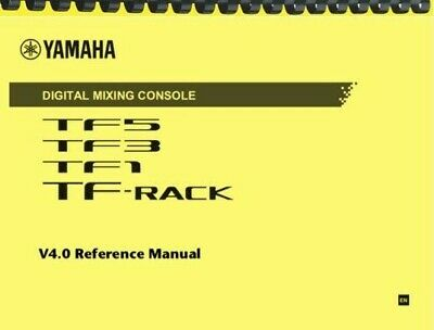 Yamaha TF5 TF3 TF1 REFERENCE MANUAL And QUICK GUIDE • 15.24£