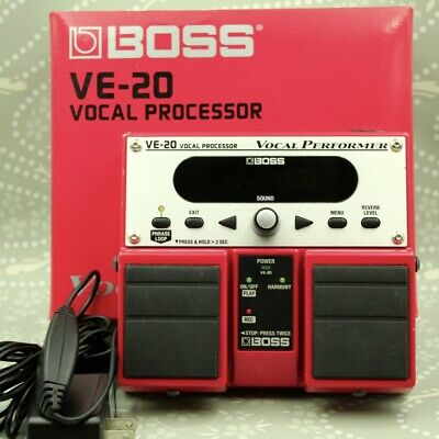 BOSS VE-20 VOCAL PERFORMER Vocal Processor Twin Pedal With Box Adapter I0F6713 • 172.83£