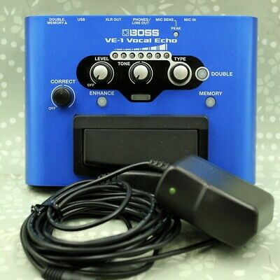 BOSS VE-1 Vocal Echo With AC Adapter Vocal Effect Processor (Z3F6077) • 87.72£