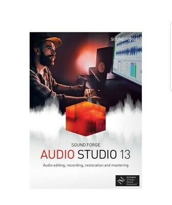 Sound Forge Audio Studio 13 Audio Editing Record Podcast Mastering Software Wind • 25.28£