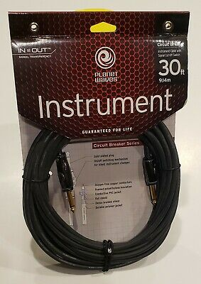 D,Addario PLANET WAVES 30FT Electric Guitar CIRCUIT BREAKER CABLE #PW-AG-30 • 28.21£