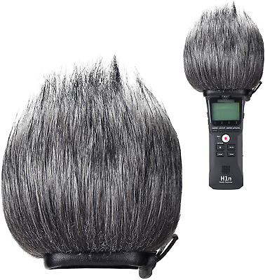 YOUSHARES Zoom H1n Recorder Furry Outdoor Windscreen Muff, Pop Filter/Wind Cover • 14.37£