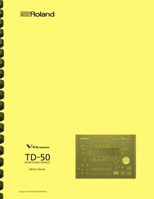 Roland TD-50 Electronic V-Drum Module 4-in-1 Owner's Manual • 14.59£