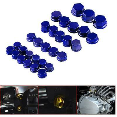 30Pcs Motorcycle Screw Nut Bolt Cap Cover For Yamaha Kawasaki Honda Harley Kit • 6.84£