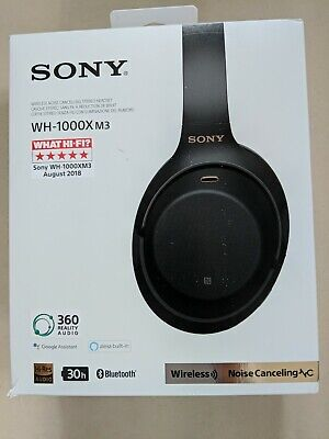 Sony WH-1000XM3 Wireless Noise Cancelling Headphones - Black - Used Once • 143£