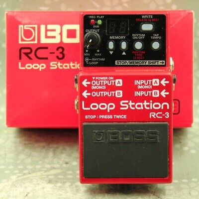 BOSS RC-3 Loop Station With Original Box Looper Phrase Recorder Pedal (A4A0314) • 104.92£