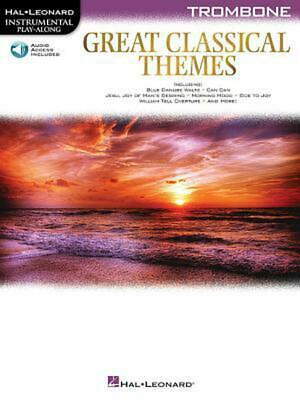 Great Classical Themes: Trombone (English) Paperback Book Free Shipping! • 12.24£