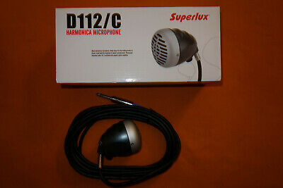 New SUPERLUX D112 HARMONICA MICROPHONE W/ INSTRUMENT CABLE & VOLUME CONTROL  • 57.95£