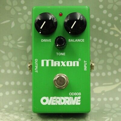 MAXON OD808 Overdrive Made In Japan Guitar Effect Pedal (12YOD410) • 85.38£