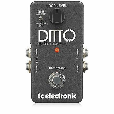 TC Electronic Ditto Stereo Looper With Stereo I/O And Back Tracking Grey • 100.99£