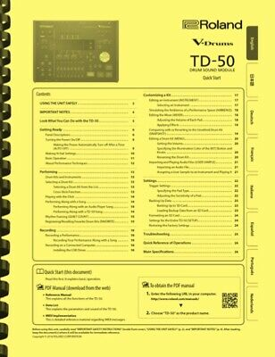 Roland TD-50 Electronic V-Drum Module 3-in-1 Owner's Manual • 14.36£