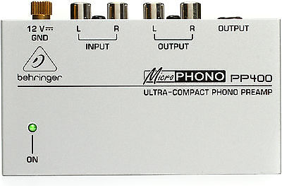 New Behringer Microphono Phono Preamp PP400 3 Year Warranty! Auth Dealer!  • 18£