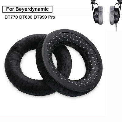 1 Pair Beyerdynamic Grey Plush Velour Ear Pads For DT770 880 990 Pro Headphone • 5.91£