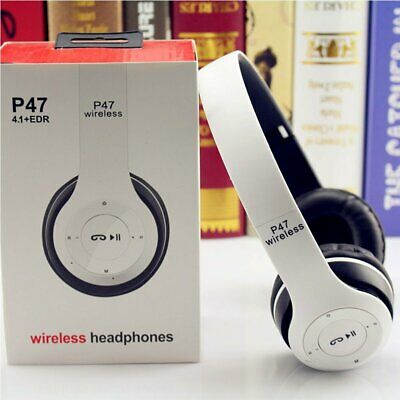 Foldable Wireless Bluetooth Headphones HD Stereo Headsets Over-ear With Mic AUX • 14.81£