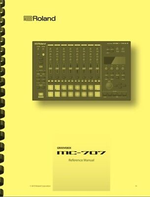 Roland MC-707 Groovebox REFRENCE MANUAL • 14.33£
