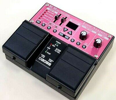 BOSS RC-30 Used Dual Track Looper Loop Station Twin Pedal Type Pink From Japan • 268.28£