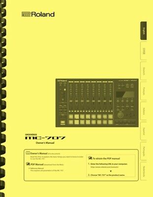 Roland MC-707 Groovebox 4-in-1 OWNER'S MANUAL • 14.33£