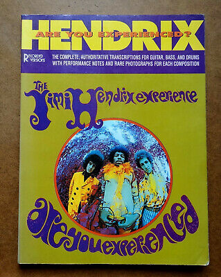 JIMI HENDRIX, ARE YOU EXPERIENCED Guitar & Bass Tabs, Drums, Sheet Music Book