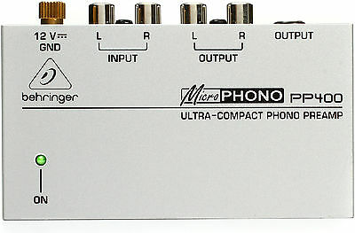 New Behringer Microphono Phono Preamp PP400 3 Year Warranty! Auth Dealer!