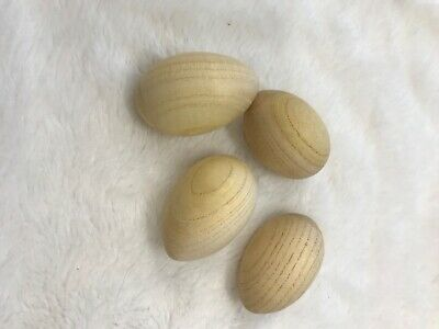 4 natural wooden musical egg sensory shakers excellent condition