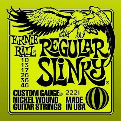 Ernie Ball Regular Slinky Electric Guitar Strings 10 - 46 Optional String Winder • 7.99£