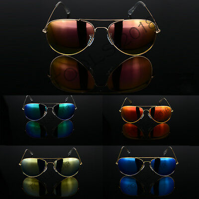 Retro Pilot Polarized Sunglasses Fashion Womens Classic Outdoor Mirrored Glass • 3.29£