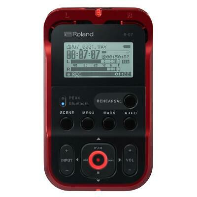 Roland R-07 Portable High-Resolution Audio Recorder - Red #R-07-RD • 155.75£