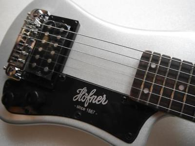 New Hofner Shorty Silver Sparkle Electric Guitar With Gigbag Case Hct-sh-sbt • 130.51£
