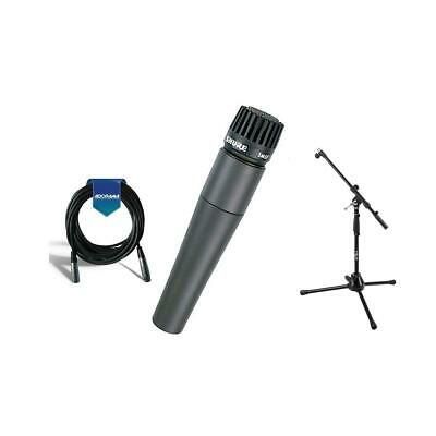 Shure SM57LC Cardioid, Dynamic Handheld Microphone W/Boom Stand/Cable #SM57-LC G • 99.34£