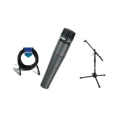 Shure SM57LC Cardioid, Dynamic Handheld Microphone W/MB1 Mini Boom Stand/Cable • 97.41£
