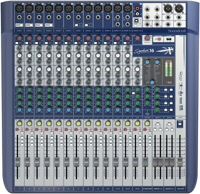 Soundcraft Signature 16 Channel Mixer With Lexicon Effects 12 Mic Preamps New • 499.96£