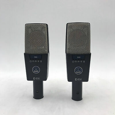 USED AKG C414 XLS Matched Pair Of Studio Condenser Microphones C 414 Stereo Set • 1,493.23£