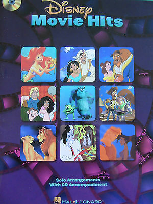 DISNEY MOVIE HITS For Viola Solo (with CD) - Pub. By Hal Leonard • 6£