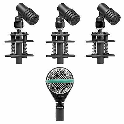 3) Beyerdynamic TG D35 Drum Microphones For Toms And Snares+AKG Kick Drum Mic • 300.64£